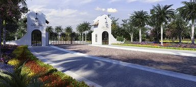 Rio Vista gate entry to Florida golf community