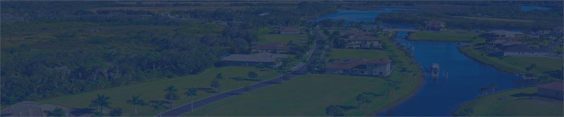manatee river custom homes aerial view