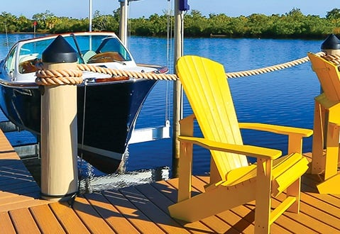 Boating community private dock Florida