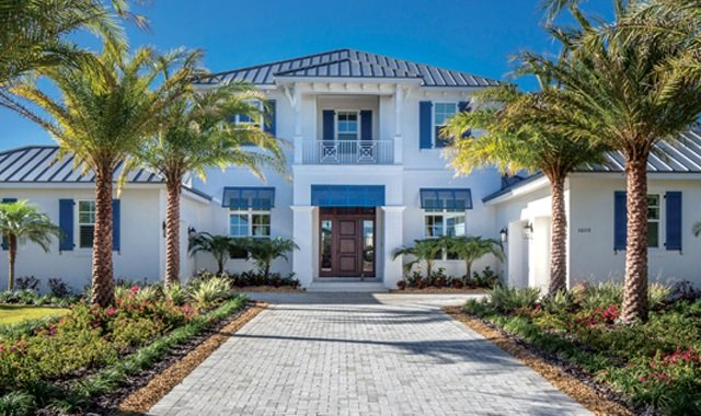 Stunning Custom Home Entry by Tampa Bay