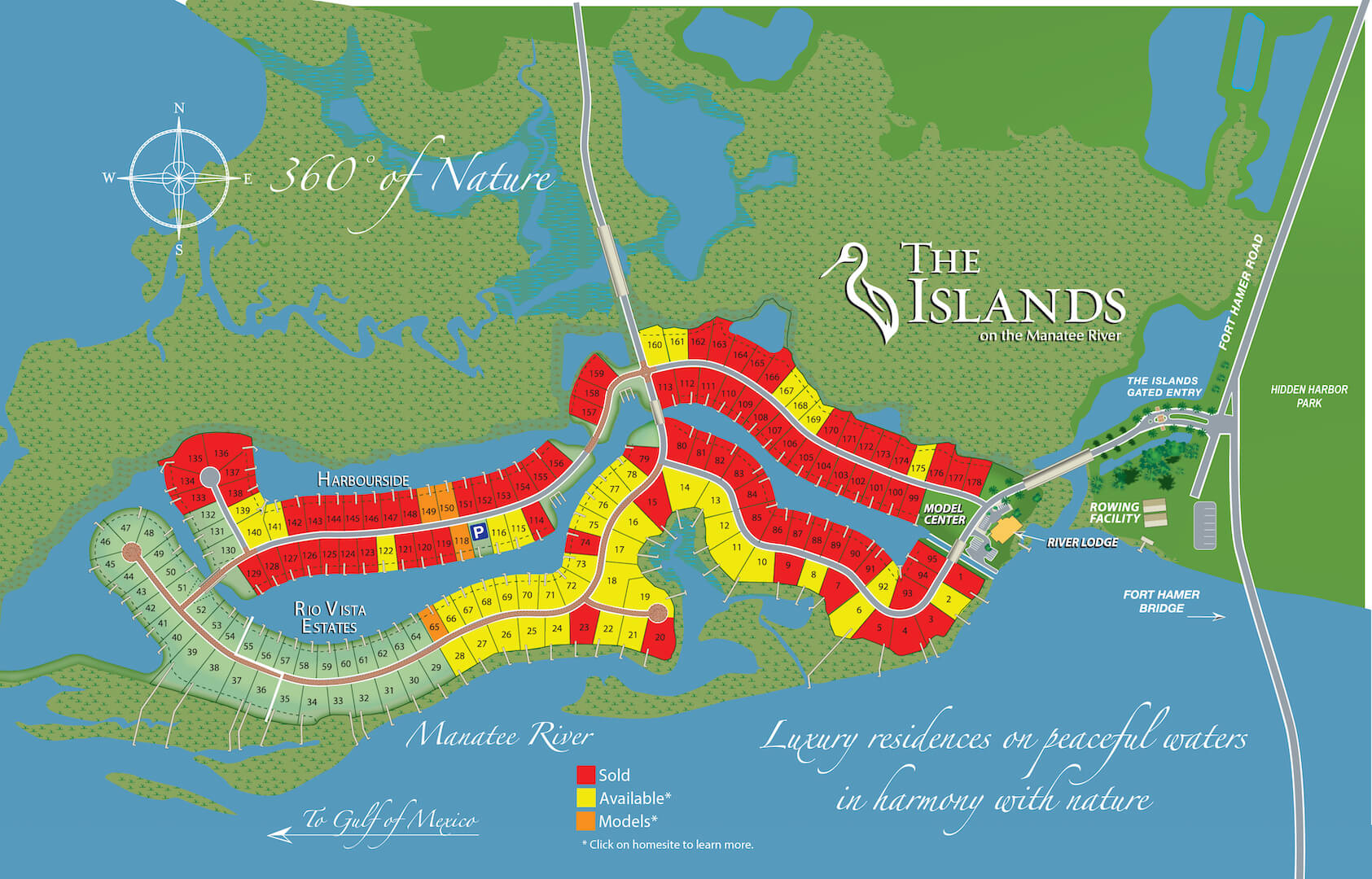 waterfront community map available properties