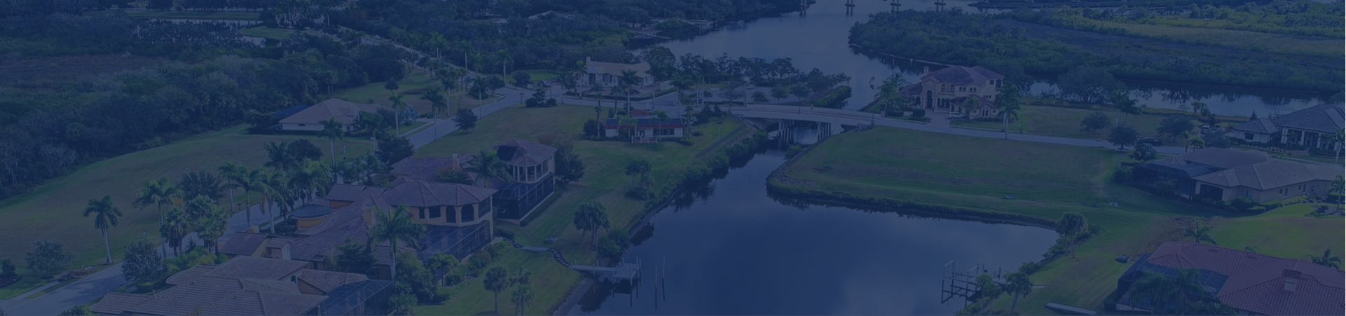 aerial view of manatee river custom homes
